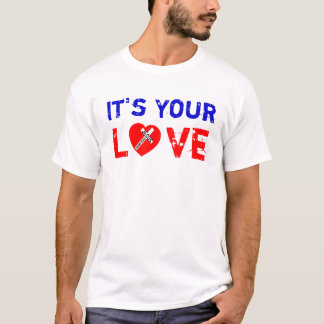 T-shirt It's Your Love Tricot - Jesus Saves (Heart)