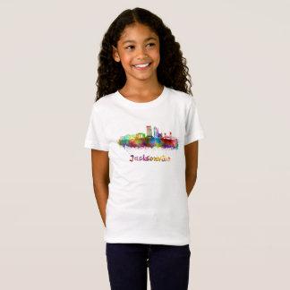 T-Shirt Jacksonville V2 skyline in watercolor