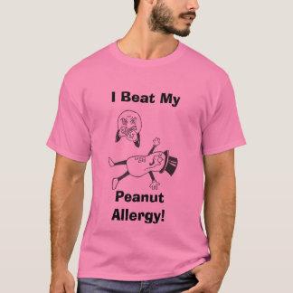 T-shirt J'ai battu le mon, allergie d'arachide !