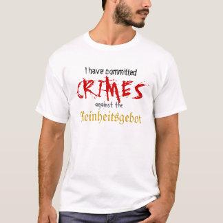 T-shirt J'ai commis des crimes contre le Reinheitsgebot