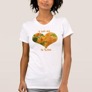 T-shirt J'ai laissé à mon coeur la bouganvillée de Lima