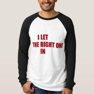 T-shirt J'ai laissé le droit po