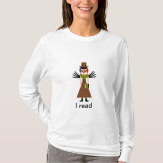 """T-shirt """"J'ai lu"""" la fille de lunettes de Steampunk"""