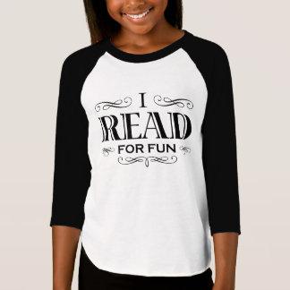 T-shirt J'ai lu pour l'amusement (la conception noire de
