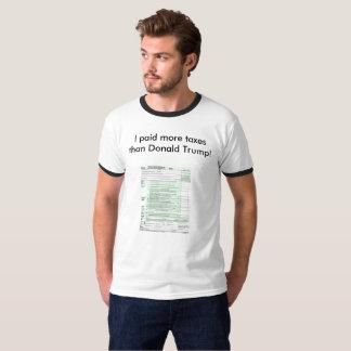 T-shirt J'ai payé plus d'impôts que Donald Trump
