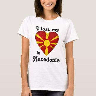 T-shirt J'ai perdu mon coeur dans Macédoine