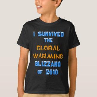 T-shirt J'ai survécu à la tempête de neige de