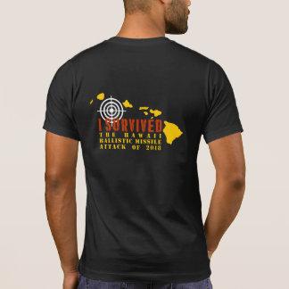T-shirt J'ai survécu à l'attaque de missiles ballistique