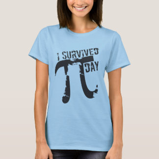 T-shirt J'ai survécu au jour de pi - jour drôle de pi