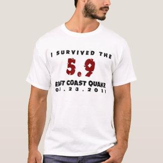 T-shirt J'ai survécu au tremblement 2011 de Côte Est