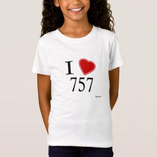 T-Shirt J'aime 757 Virginia Beach