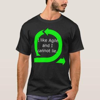 T-shirt J'aime agile et je ne peux pas me trouver