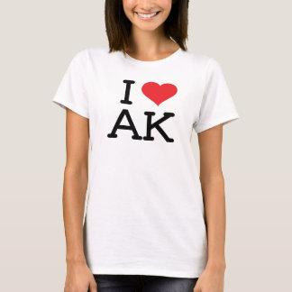 T-shirt J'aime AK - coeur - bébé de dames - poupée