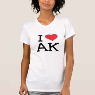 T-shirt J'aime AK - coeur - des dames décontractées