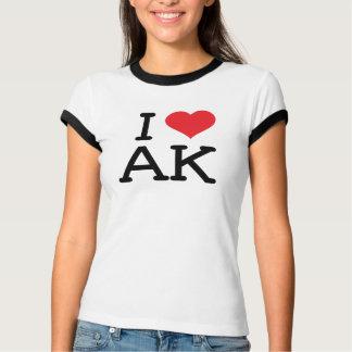 T-shirt J'aime AK - coeur - sonnerie de dames