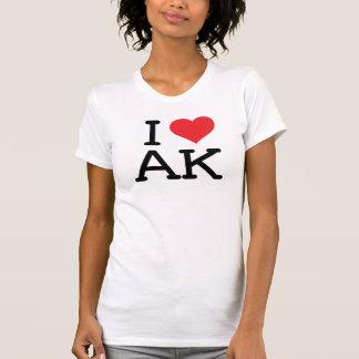 T-shirt J'aime AK - coeur - style détruit par dames