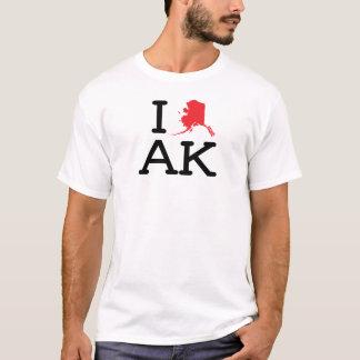 T-shirt J'aime AK - état - équipage de dames