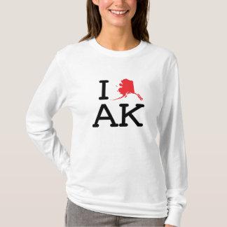 T-shirt J'aime AK - état - longue douille de dames