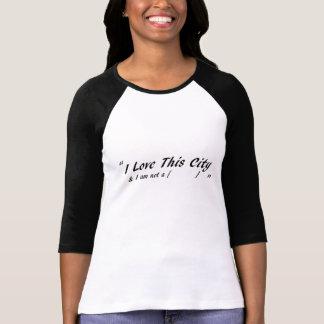 T-shirt J'aime cette ville - pour des femmes