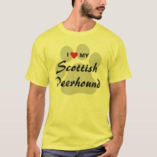 T-shirt J'aime (coeur) mon limier écossais