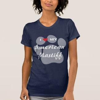T-shirt J'aime (coeur) mon mastiff américain