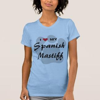 T-shirt J'aime (coeur) mon mastiff espagnol Pawprint