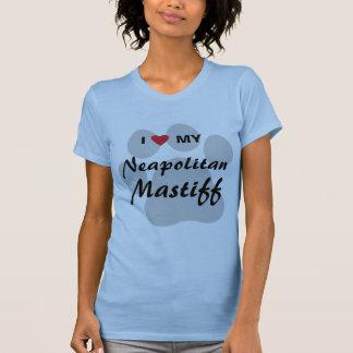 T-shirt J'aime (coeur) mon mastiff napolitain Pawprint