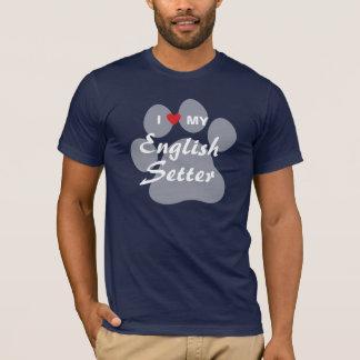 T-shirt J'aime (coeur) mon poseur anglais