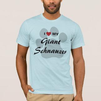 T-shirt J'aime (coeur) mon Schnauzer géant