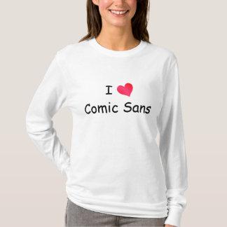 T-shirt J'aime comique sans