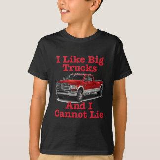 T-shirt J'aime de grands camions…. Dodge