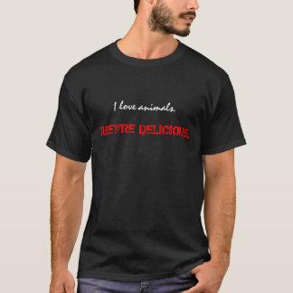 T-shirt J'aime des animaux., ILS suis DÉLICIEUX