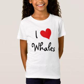 T-Shirt J'aime des baleines