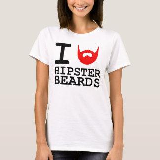 T-shirt J'aime des barbes de hippie