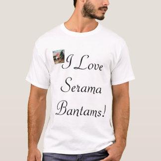T-shirt J'aime des coqs nains de Serama !
