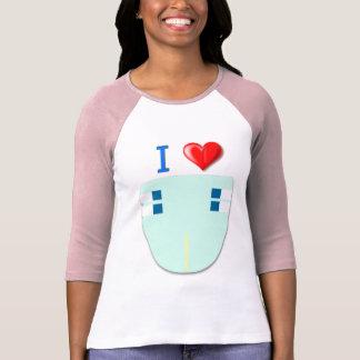 T-shirt J'aime des couches-culottes/bébé 4 douille adulte
