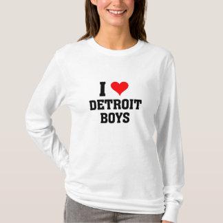 T-shirt J'aime des garçons de Detroit