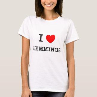 T-shirt J'aime des LEMMINGS