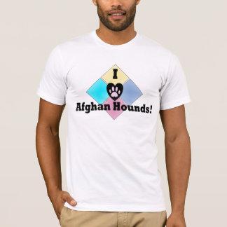 T-shirt J'aime des lévriers afghans