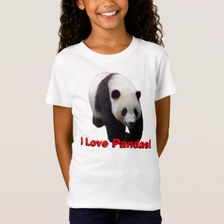 T-Shirt J'aime des pandas ! Le panda géant badine le bébé