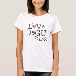 T-shirt J'aime des piles de Degu
