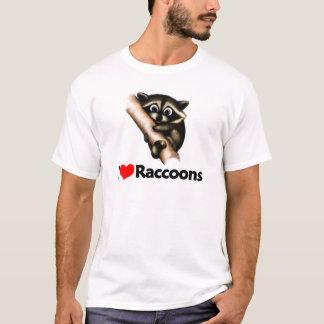 T-shirt J'aime des ratons laveurs