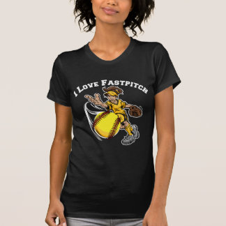 T-shirt J'aime Fastpitch, yellow2