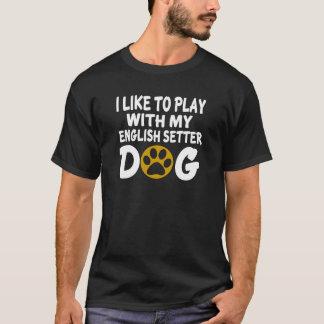 T-shirt J'aime jouer avec mon chien de poseur anglais