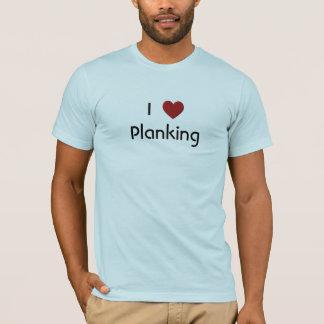 T-shirt J'aime la chemise de Planking
