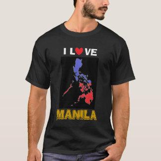T-shirt J'aime la chemise foncée de base de Manille