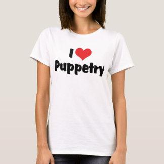T-shirt J'aime la fabrication de marionnettes de coeur -
