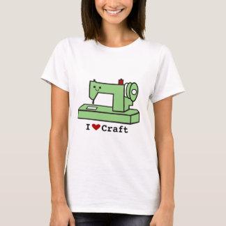 T-shirt J'aime la machine à coudre de Kawaii de métier