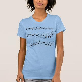 T-shirt J'aime la musique de pièce en t de musique
