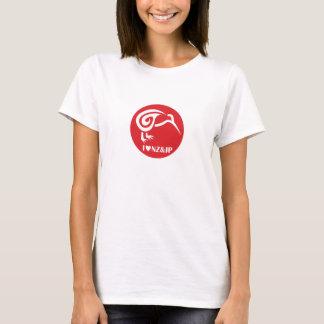 T-shirt J'aime la Nouvelle Zélande et le Japon pour la